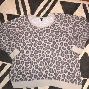 Torrid size 4 cheetah print sweater